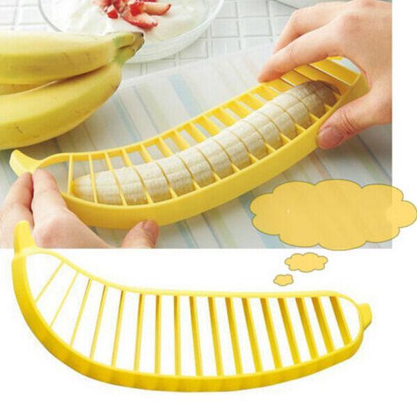 Banana Slicer Chopper Cucumber Cutter Vegetable Peeler Fruit Salad Tool