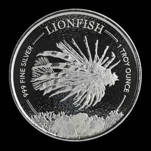 2019-Silver-1-oz-Barbados-Lionfish-BU-with-Mint-Capsule