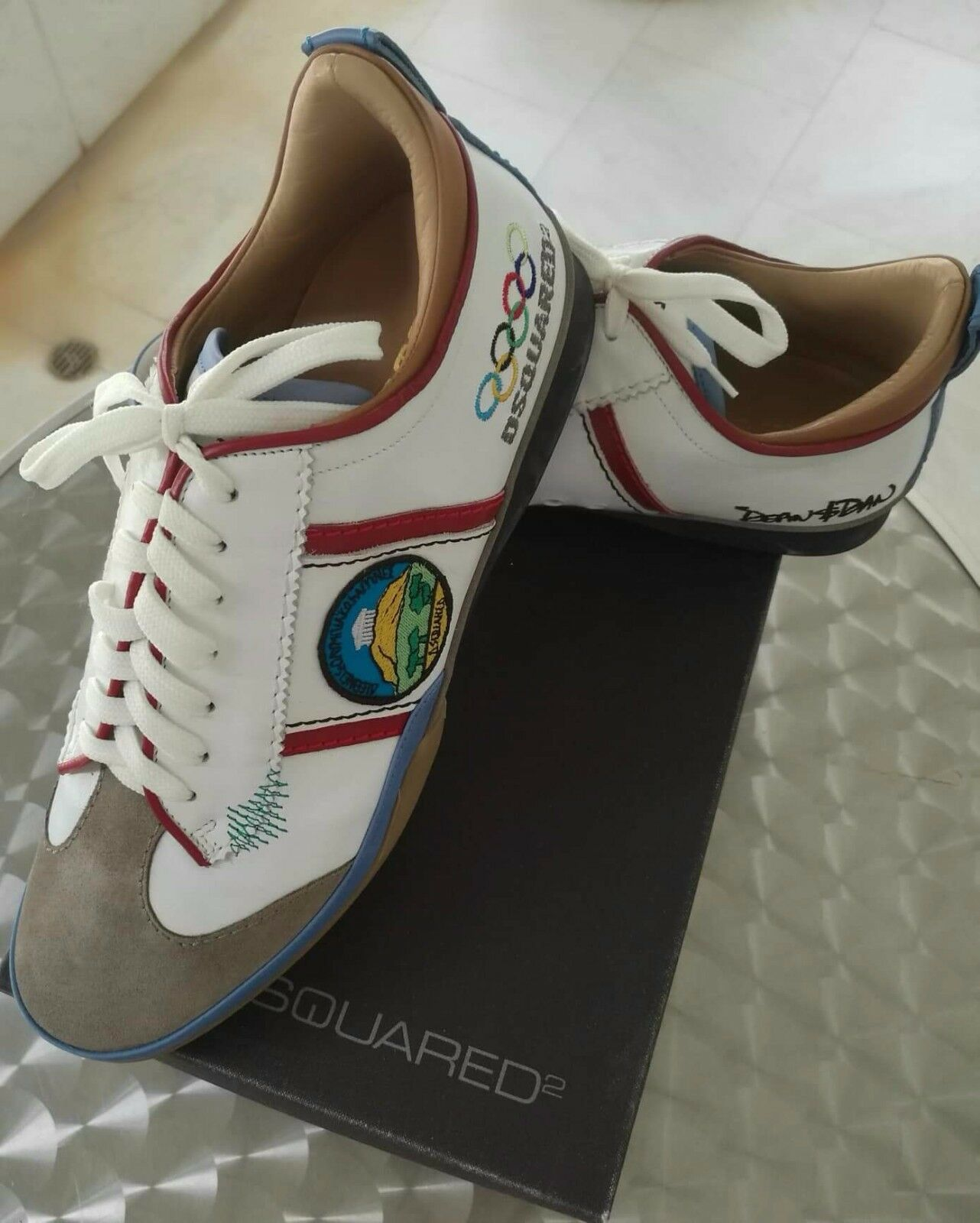 Scarpe casual da uomo  Collectible Authentic Dsquared2 Athens 2004 Olympic Games uomos Shoes, Size 9.5