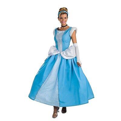 CINDERELLA Adult Disney Deluxe Prestige Costume Standard 12-14 | Disguise 5970