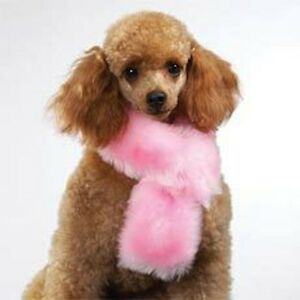 East-Side-Collection-Fluffy-Pink-Plush-Luxury-Stole-Scarf-Small-for-Puppy-Dogs