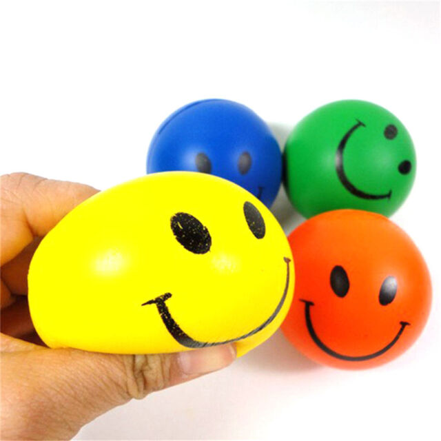 6.3 Squeeze Ball Smile Face Hand Wrist Exercise Stress Relief Venting Bal EBAU