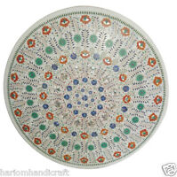 Size 3'X3' Marble Dining Table Top Inlay Stone Mosaic Floral Art Home Decor H909