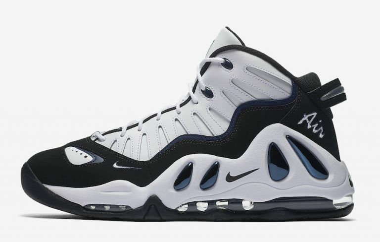 Nike Air Max Uptempo 97 White Black College Navy Blue 399207-101 Comfortable Casual wild