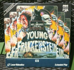 The-034-Young-Frankenstein-034-Laserdisc-signed-by-Mel-Brooks-and-Cloris-Leachman