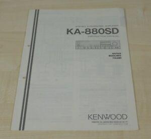 Kenwood KA-880SD original Bedienungsanleitung (mehrsprachig, auch in Deutsch)