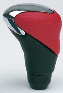 Sumex GT-3 Leather & Aluminium Car Gear Shift Lever Stick Knob - Red & Black NEW