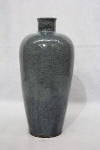 Vintage-MCM-Mid-Century-Modern-BLUE-Speckled-Studio-Art-Pottery-13-5-034-Urn-Vase