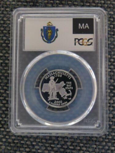 2000-S 25c Massachusetts SILVER Quarter Proof PCGS PR70DCAM State Flag Label