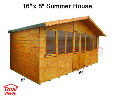 8 x 6 SUPREME SUMMER HOUSE LOG CABIN OFFICE BAR SHED HIGH QUALITY WOODEN TIMBER