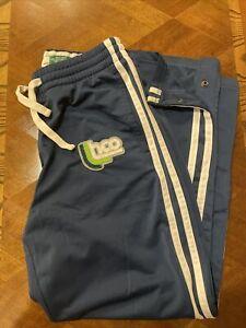 Hollister Pantalones De Pista Medio Azul Marino Blanco Raya Sudor Pantalones Vintage Ebay