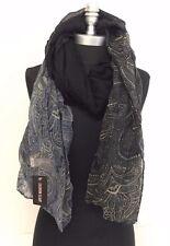 New Fashion Women Printed Chiffon Scarf Wrap Ladies Shawl Long Soft Navy/Black