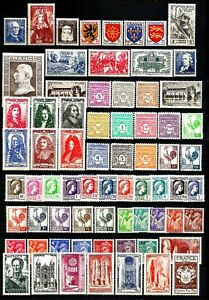 FRANCE-Annee-1944-Complete-70-Timbres-neufs-luxe-MNH