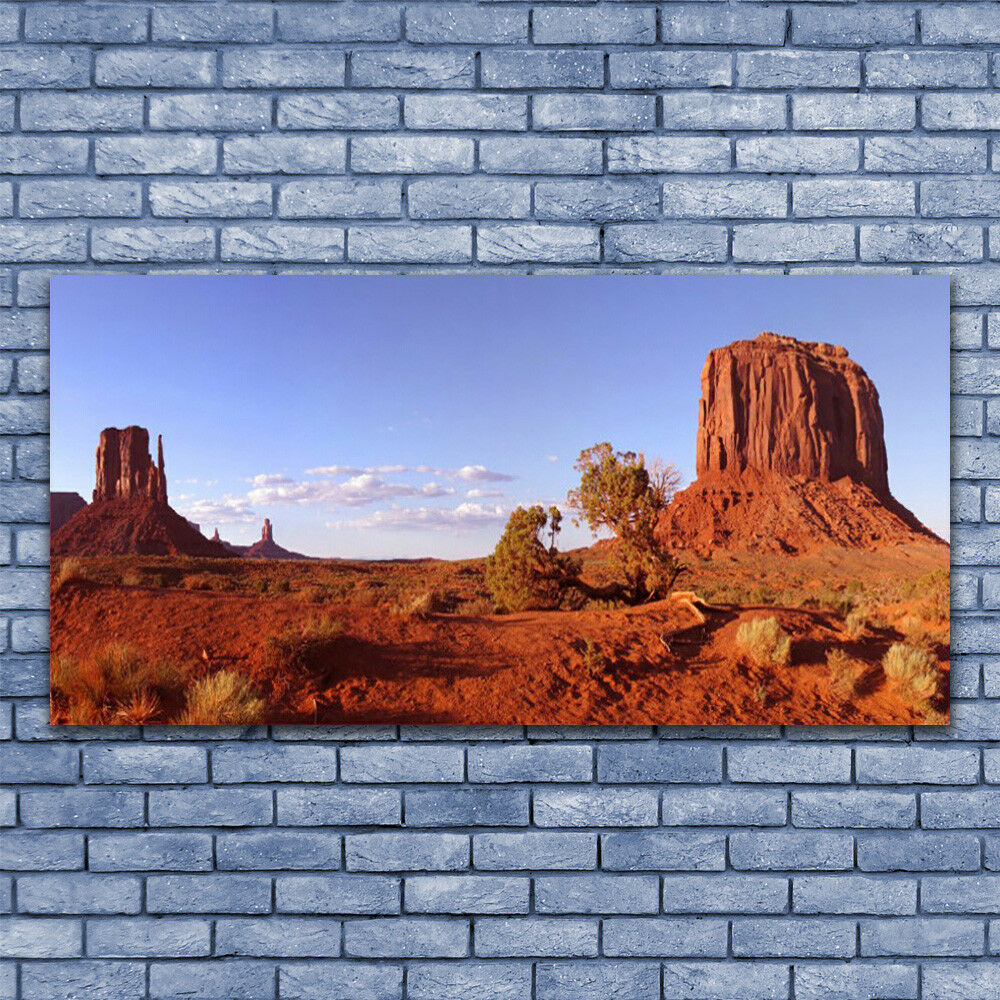 Glass print Wall art 140x70 Image Picture Desert Landscape