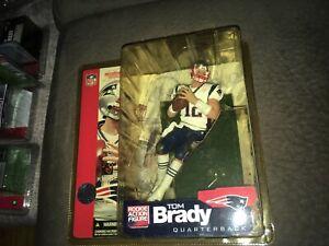 Tom Brady Patriots de la Nouvelle-Angleterre 2002 Recrue Mcfarlane Jouets Figure de football Mip
