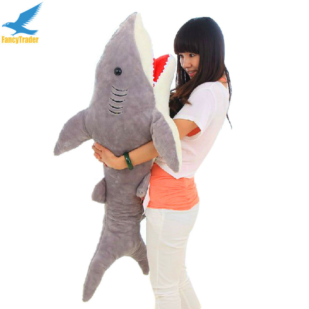 51  Giant Hung Big Shark Plush soft Toys Stuffed Animals Doll Xmas Gift NEW