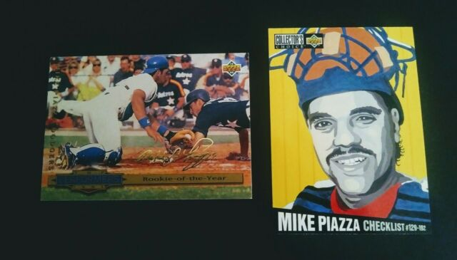 1993 Gold Signature Mike Piazza Rookie Card And 1994 Upper Deck Checklist Card