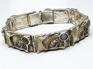 Design-Silber-Armband-mit-7-Mondsteinen-besetzt-835-Silber-Meisterpunze-A676