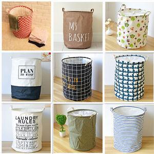 Foldable Laundry Basket Storage Organiser Bag Sorter Hamper Bin Clothes Toy Bag