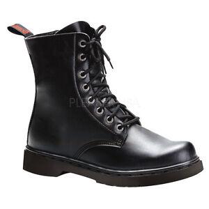 Demonia-8-eye-Vegan-Black-Combat-Military-Ankle-Boots-Rocker-Punk-Mens-6