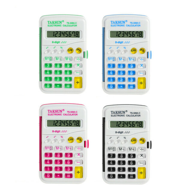 Electronic Pocket Calculator Office School Exams Work Auto Power Off 8 Digits