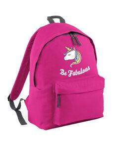 Ser-fabuloso-unicornio-mochila-para-ninas-escuela-Ruck-Lindo-adolescente-Ninos-Rosa-L230