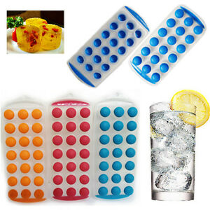 2-X-Facile-Ice-Cube-Maker-bac-a-glacons-en-plastique-silicone-top-Gelee-Moule-Cocktail