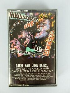 Vintage 1985 Daryl Hall John Oates Live At The Apollo Cassette Tape