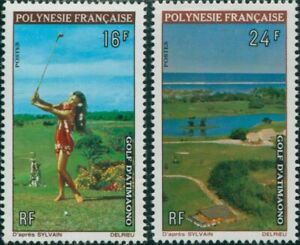 French-Polynesia-1974-Sc-275-276-SG177-178-Golf-Course-set-MNH