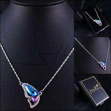 1+ Kette Halskette *Schmetterling*, Weißgold pl., Swarovski Elements, inkl. Etui