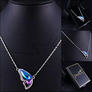 1-Kette-Halskette-Schmetterling-Weissgold-pl-Swarovski-Elements-inkl-Etui