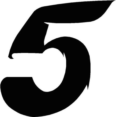 Startnummern vinyl-Sticker Stil 2 Schwarz Wähle MEHR im -SHOP x1 Ziffern