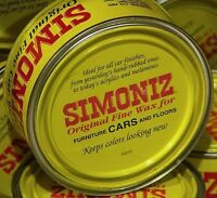 One Can Simoniz Original Paste Car Wax Can 7oz. (198g) With Genuine Carnauba Wax