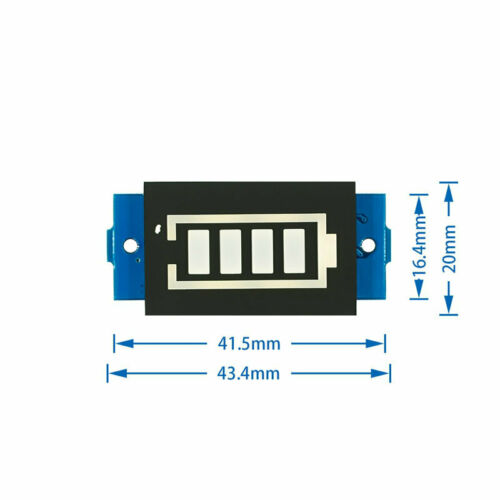3.7V Lithium Battery Capacity Indicator Module 4.2V Blue display  Power Tester