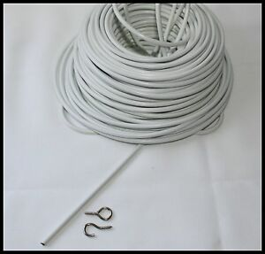 Net Curtain Expanding Wire White Window Cord Cable Voile
