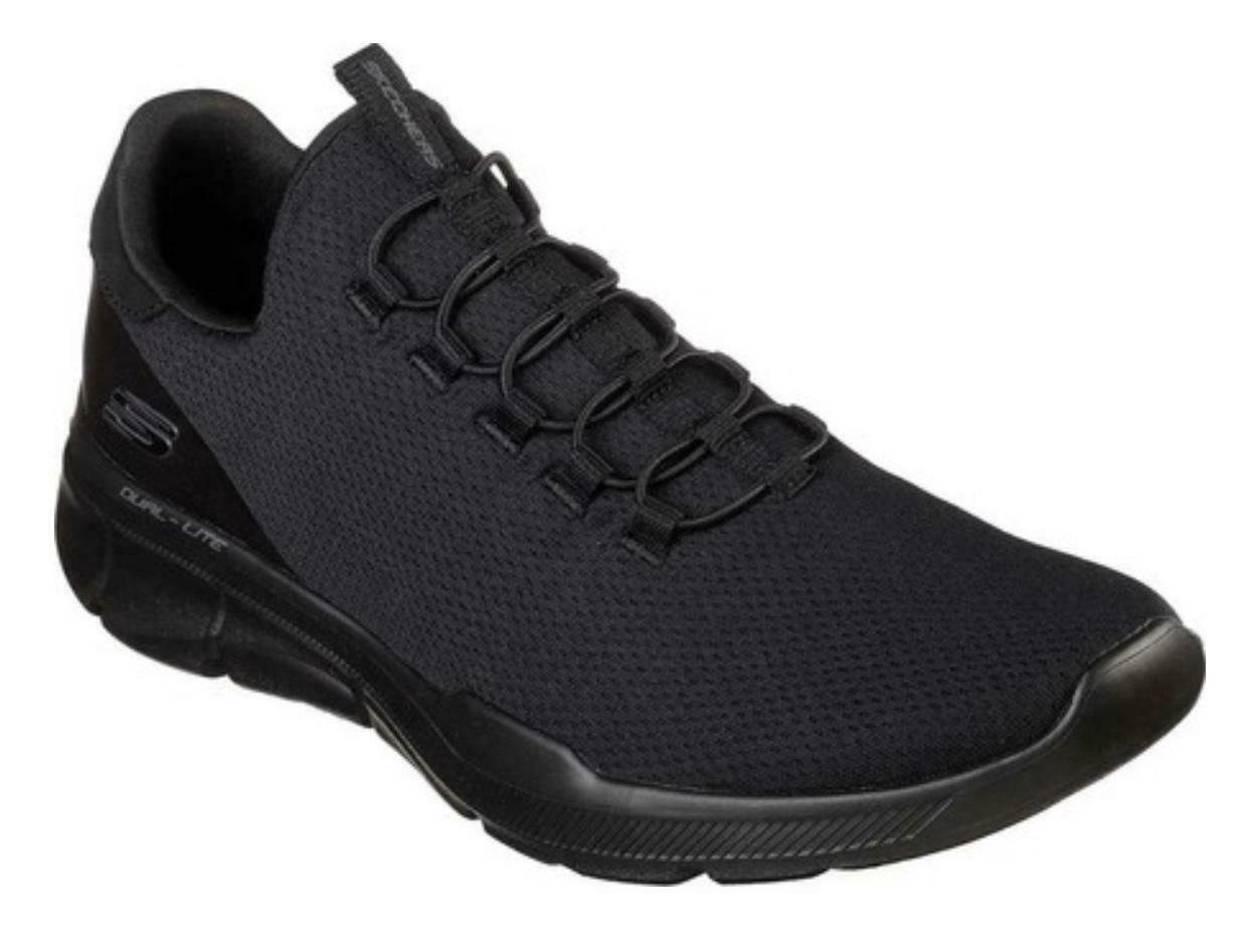 Homme Skechers Relaxed Fit Equalizer 3.0 Emrick paniers, Noir-Taille 10.5