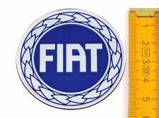 FIAT★ 4 Stück ★ SILIKON Ø55mm BLAU Aufkleber Emblem Felgenaufkleber Radkappen