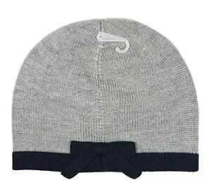 78467fa16d82ca Kate Spade New York Women's Heather Grey Contrast Bow Beanie Hat ...