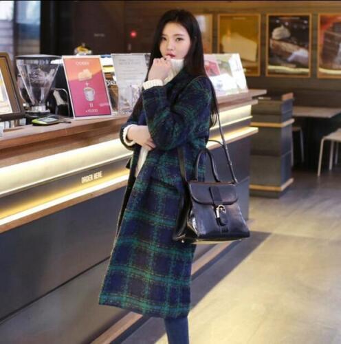Cappotto invernale con cappuccio in monopetto donna soprabito misto lana in lana rrwR7qxdC