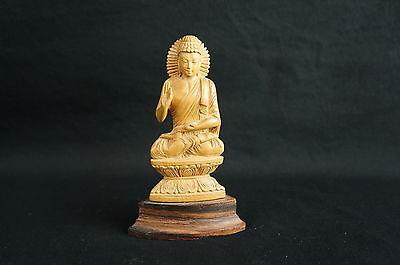 """Nice Vintage Thai y8-w7-a8 Carved Buddha Figurine 4"""""""