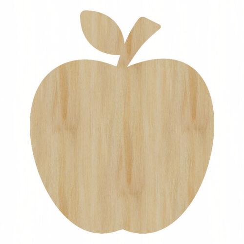 Apple Laser Cut Out Wood Shape Craft Supply Wood Craft Apple Cutout