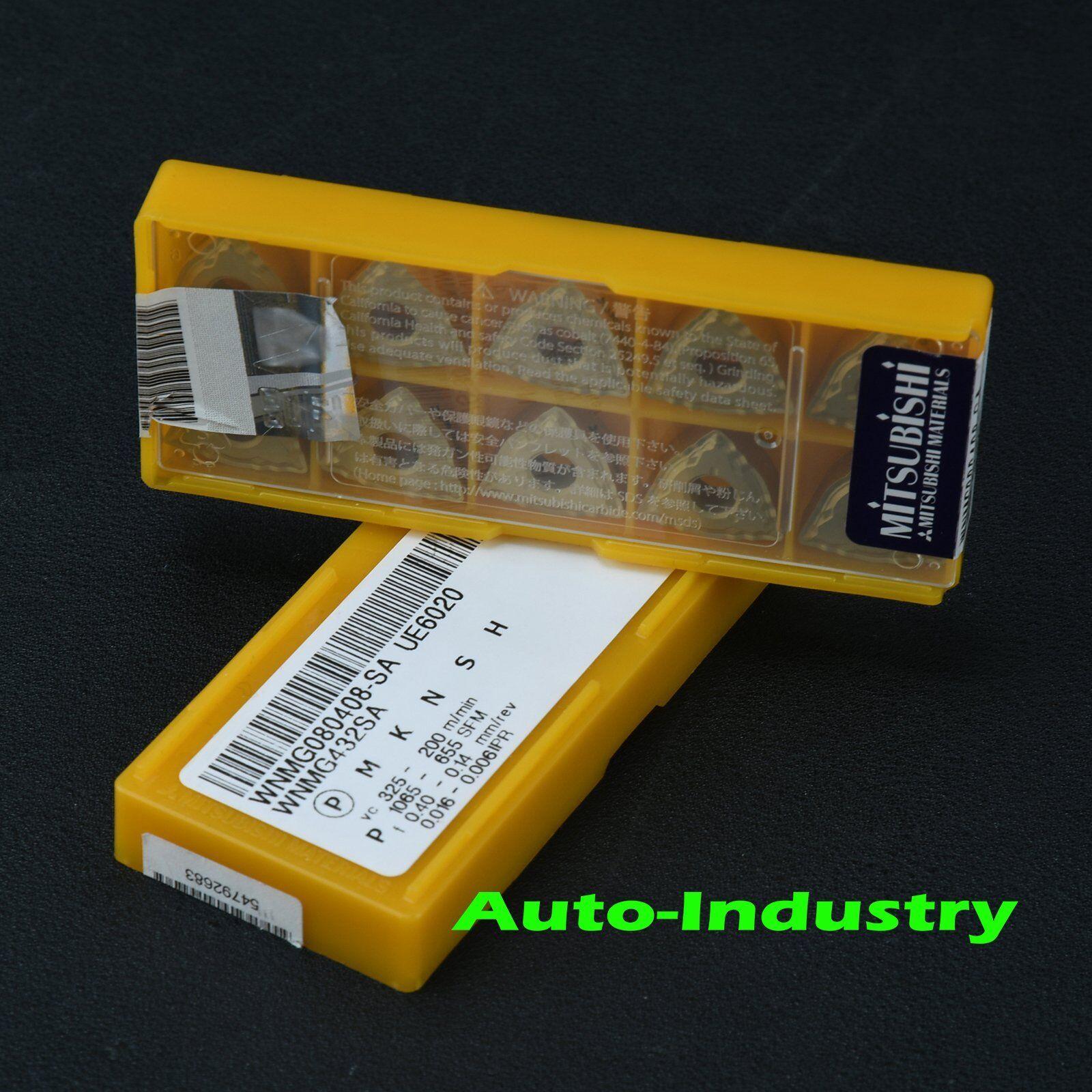 New Mitsubishi 10PCS  WNMG080408-SA UE6020 WNMG432SA Carbide Insert