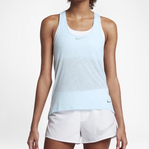 d97e22645 Nike Women's Breathe Dri-fit Running Athletic Tank Top Light Blue Sz L 35
