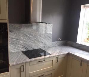 Granite Viscount White Kitchen Work Tops Supply Fit Complete Price Inc Vat Ebay