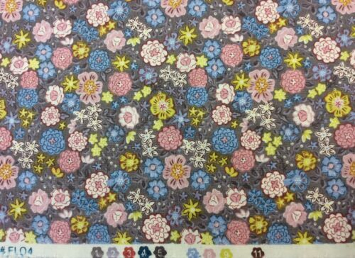 Lewis And Irene Flo/'s Little Flowers D#FLO4 Col.3 100/% Cotton By 1//4 Metre