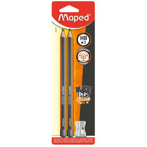 2 x Bleistift dick Jumbo Dreikant Schulanfänger Vorschule mit Spitzer HB