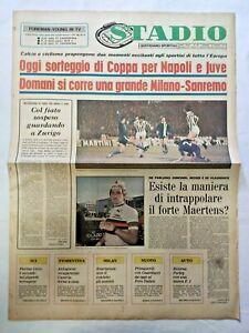 QUOTIDIANO-STADIO-18-3-1977-JUVENTUS-COPPA-UEFA-NAPOLI-COPPA-DELLE-COPPE
