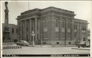 Aberdeen-MS-City-Hall-c1950s-Real-Photo-Postcard-jrf
