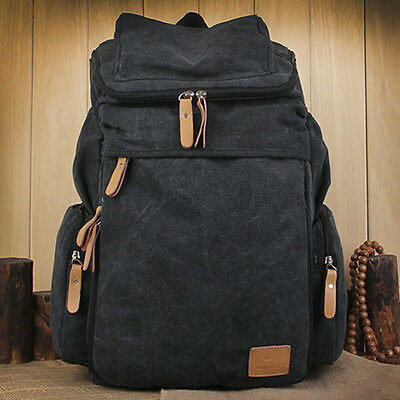 New Vintage Women Men Canvas Backpack FB287 Hiking Shoulder Bag Rucksack Bookbag