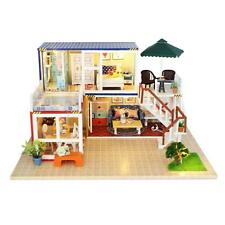 Japanese Style DIY Miniature Doll House Furniture Set w/LED Light Toy Gift